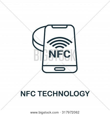 Nfc Technology Outline Icon. Creative Design From Smart Devices Icon Collection. Premium Nfc Technol