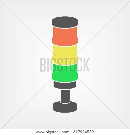 Andon Vector Illustration. Lean Manufacturing Tool Isolated Icon
