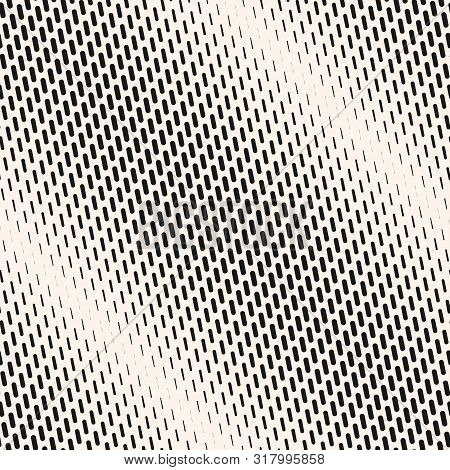 Vector Geometric Halftone Seamless Pattern With Diagonal Dash Lines, Fading Stripes. Extreme Sport S