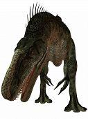 3 D Render of an Monolophosaurus-3D Dinosaur poster