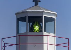 Light In Tower Of Cape Spear Lighthouse, Newfoundland Coast