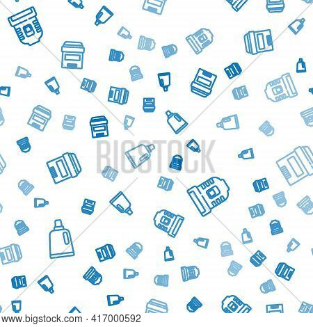 Set Line Bottle For Cleaning Agent, Epilator And Antiperspirant Deodorant Roll On Seamless Pattern.