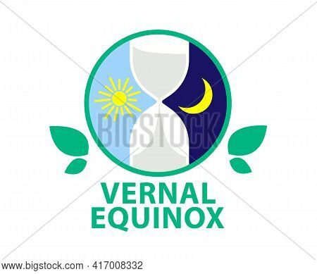 Vernal Equinox. Day Of Spring Equinox. Day And Night Background. Design Concept.