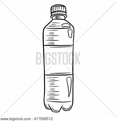 Water Bottle. International Water Day. Water In A Plastic Bottle. Cartoon Style. Vector Illustration