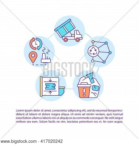 Comprehensive Logistics Concept Line Icons With Text. Ppt Page Vector Template With Copy Space. Broc
