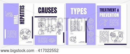 Viral Hepatitis Brochure Template. Treatment, Prevention. Reasons. Flyer, Booklet, Leaflet Print, Co