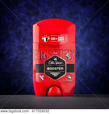 Ukraine. Kyiv - April. 12. 2021. Old Spice Deodorant Antiperspirant Stick For Men. Products Of The P