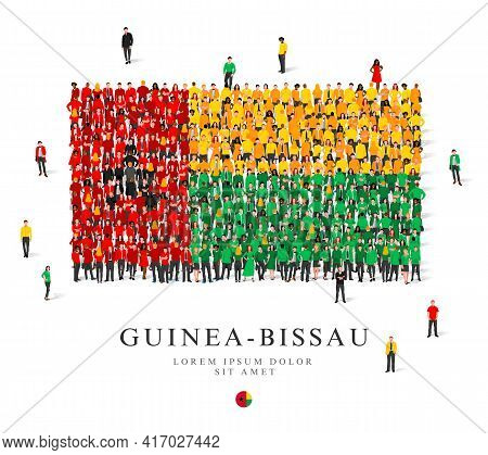 A Large Group Of People Are Standing In Black, Green, White, Yellow And Red Robes, Symbolizing The F