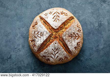 Homemade Yeast Free Wholegrain Rye Bread With Sunflower Seeds