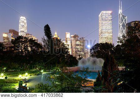 Hong Kong, China, Asia - November 13, 2008: View Of The Zoological And Botanical Gardens In Chung Wa