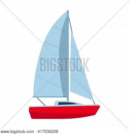 Sail Yacht Vector Icon.cartoon Vector Icon Isolated On White Background Sail Yacht.