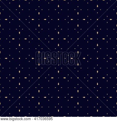 Golden Minimalist Vector Seamless Pattern. Simple Minimal Geometric Texture. Abstract Black And Gold