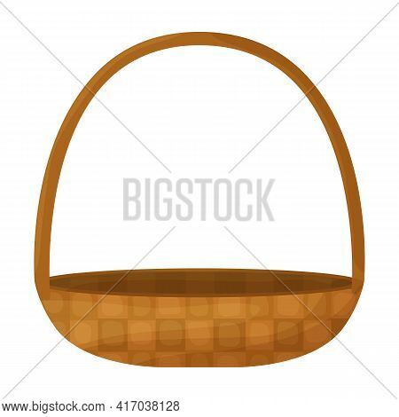 Wicker Basket Vector Icon.cartoon Vector Icon Isolated On White Background Wicker Basket.