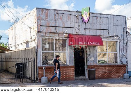 New Orleans, La - December 15: Exterior Of The Milan Lounge Neighborhood Bar On December 15, 2019 In