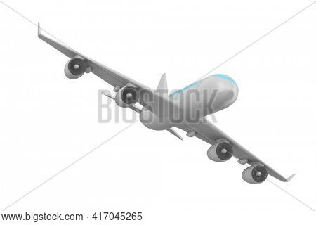 airplane on white background. Isolated 3D illustration