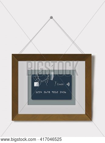 That One Special Credit Card In A Frame With Broken Glass Illustrated Lost Or Damaged Credit Cards.