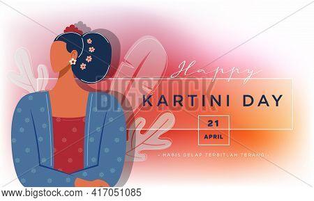 Happy Kartini Day Celebration Illustration Free Vector