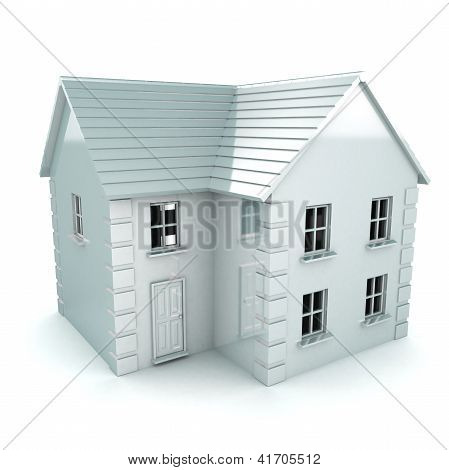 White Rendered House