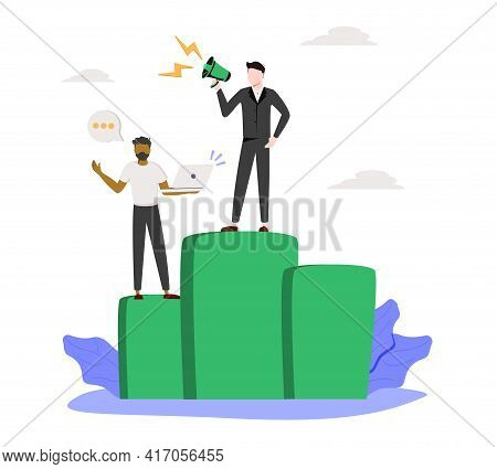 Workplace Culture Abstract Concept Vector Illustration. Workplace And Racial Discrimination, Equal E