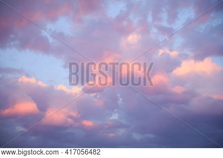 Picturesque View Of Beautiful Sky In Evening