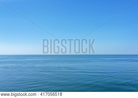 Picturesque View Of Beautiful Sea And Blue Sky