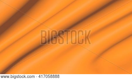 Background Movement Of Abstract Golden Clothin 3d. Waves Of Lines Of Unreal Yellow Space.