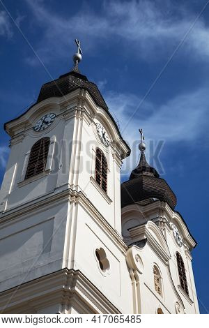Religion Symbol. Catholic Sanctuary Church. Catholic Memorial Monument. Historical Landscape Buildin
