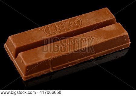 Lviv, Ukraine - April 08, 2021: Kitkat Chocolate Bar