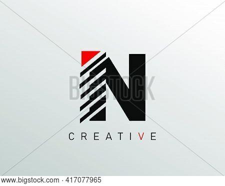 Creative Modern Letter N Logo, Monogram N Logo Icon.