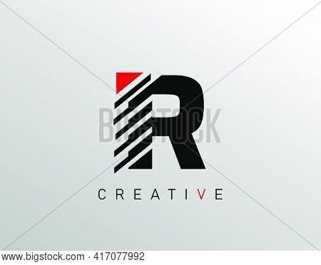 Creative Modern Letter R Logo, Monogram R Logo Icon.