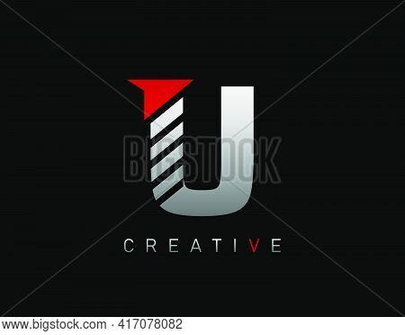 Creative Modern Letter U Logo, Abstract U Letter Logo Icon.