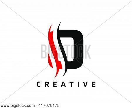 O Letter Swoosh Logo Design. Vector Lettering Illustration