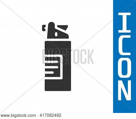 Grey Weapons Oil Bottle Icon Isolated On White Background. Weapon Care. Vector