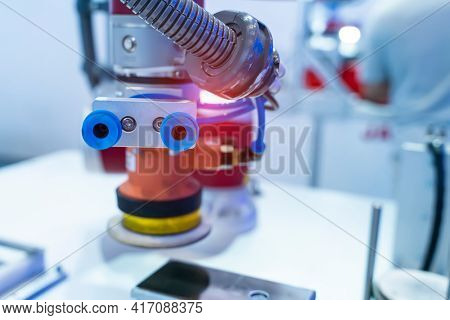 pneumatic piston sucker unit on industrial machine,automation compressed air factory production