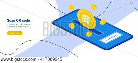 Electronic Digital Payment From A Smartphone. Scan The Qr Code On Your Phone. Scan To Pay. The Conce