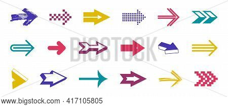 Arrow Symbols Big Set Of Different Shapes Styles And Concepts, Cursors For Icons Or Logo Creation, S