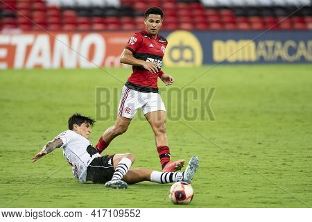 Rio, Brazil - April 15, 2021: Joao Gomes And German Cano Players In Match Between Flamengo V Vasco B