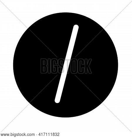 Punctuation Mark Icon On White Background. Flat Style. Finger Click Icon. Punctuation Mark Sign.