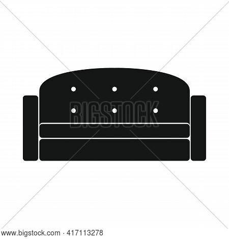 Vector Convenient Sofa Black Simple Icon Isolated