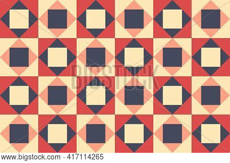 Patchwork, Seamless Pattern. Vector Illustration. Rustic Background, Blanket Texture. Texture Of A R