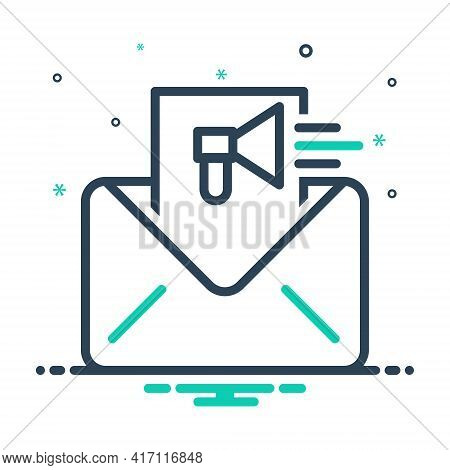 Mix Icon For Email-marketing Email Marketing Online Publicity Promotion Strategy