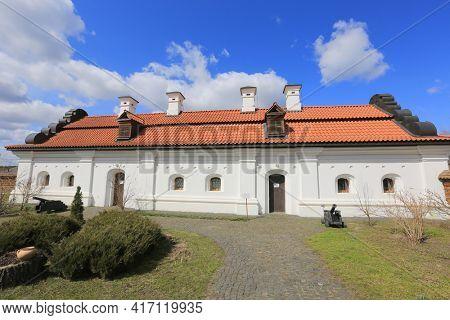 buiding in Bohdan Khmelnytskyi residence, famous historcal complex in Chyhyryn town, Ukraine