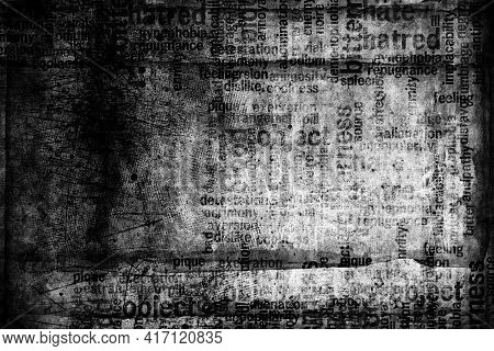 Abstract Grunge Futuristic Background.  Drawing On Old Grungy Surface. Dirty Scratch Wall. Street Ar
