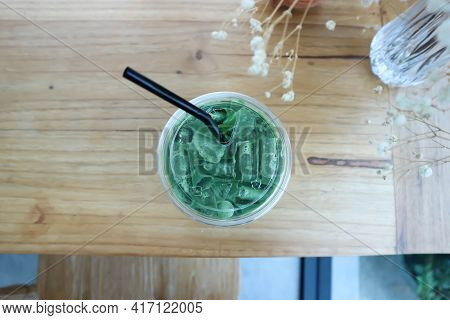 Iced Tea, Iced Matcha Or Matcha Green Tea For Serve