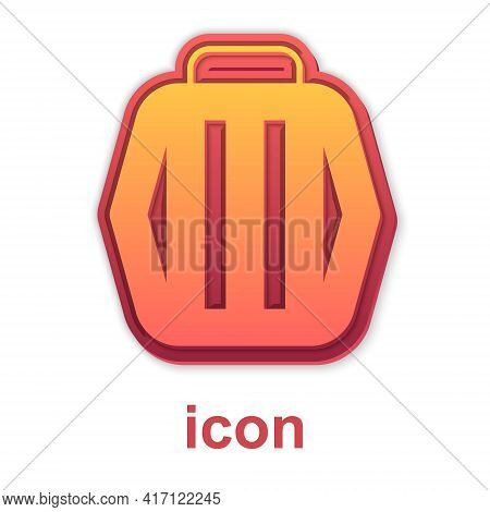 Gold Pet Carry Case Icon Isolated On White Background. Carrier For Animals, Dog And Cat. Container F