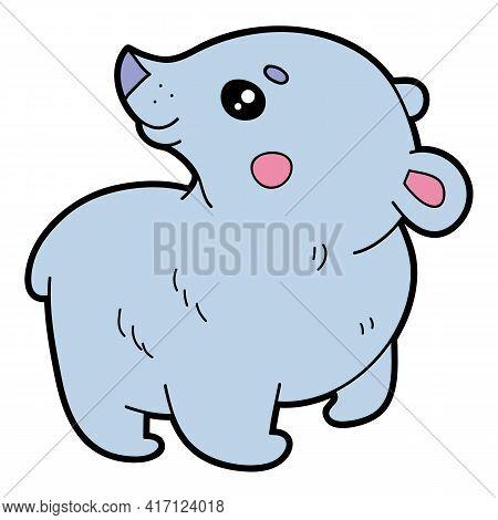 Vector Educational Illustration Of Cute Cartoon Bear For Children And Scrap Book