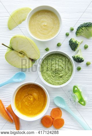 Assortment Of Fruit And Vegetable Puree