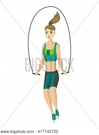Woman Fitness. Icon Of Girl Doing Sport Exercises. Active And Healthy Life Concept. Female Workout F