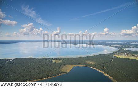 Bright Sunny Lake Landscape