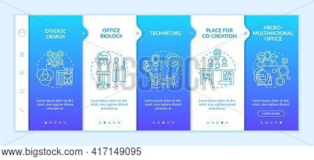 Workspace Tendencies Onboarding Vector Template. Responsive Mobile Website With Icons. Web Page Walk